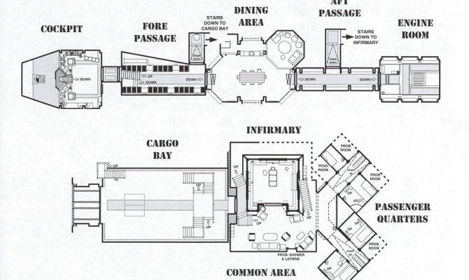Space Former Home Kaylee River Blueprint Ship Layout