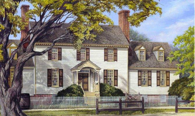 Spacious Colonial Home Plan Floor Master