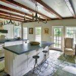 Spacious Kitchen Equipped Two Islands Extra Storage