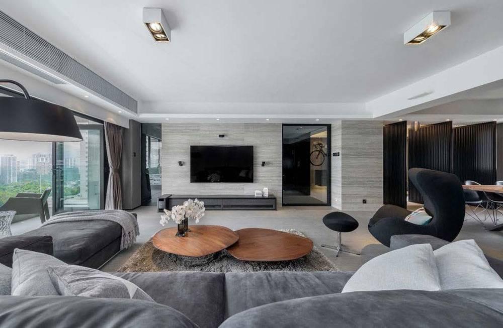 Spacious Modern Living Room Interior Ideas Grey Sofa House Plans 91685