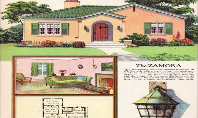 Spanish Colonial Revival Small House Plans