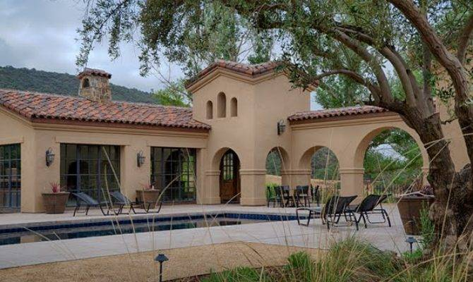 Spanish Mission Style Pool House Chuck Peterson Architects