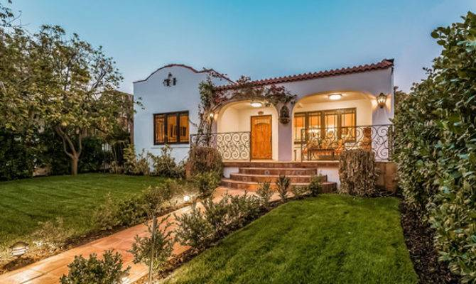 Spanish Real Estate Architectural Homes Sunset