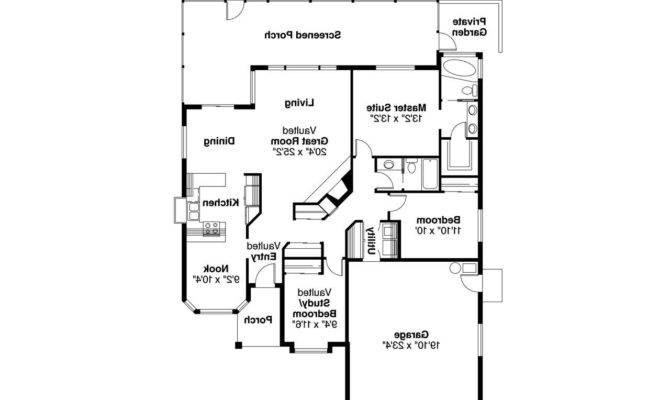 Spanish Style House Plan Arcadia Floor