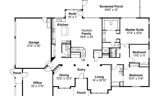 Spanish Style House Plan Santa Maria Floor