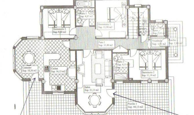 Spanish Villa Floor Plans Inland Properties Spain