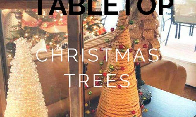 Sparkly Diy Tabletop Christmas Tree Sawdust Sisters