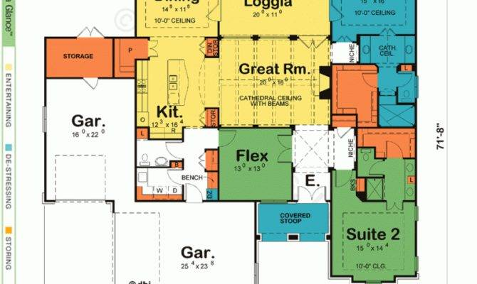 Special House Plans Two Master Suites One Story Danutabois