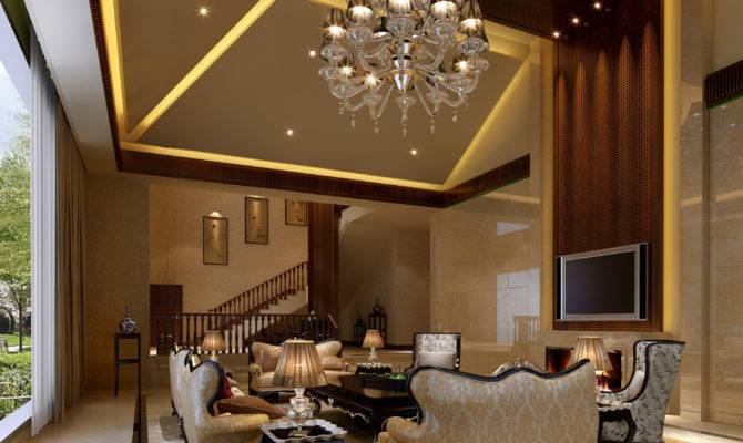 Spectacular Crystal Chandelier Feat Droped Ceiling Lights
