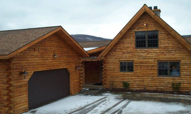 Spectacular Log Home Garages Architecture Plans