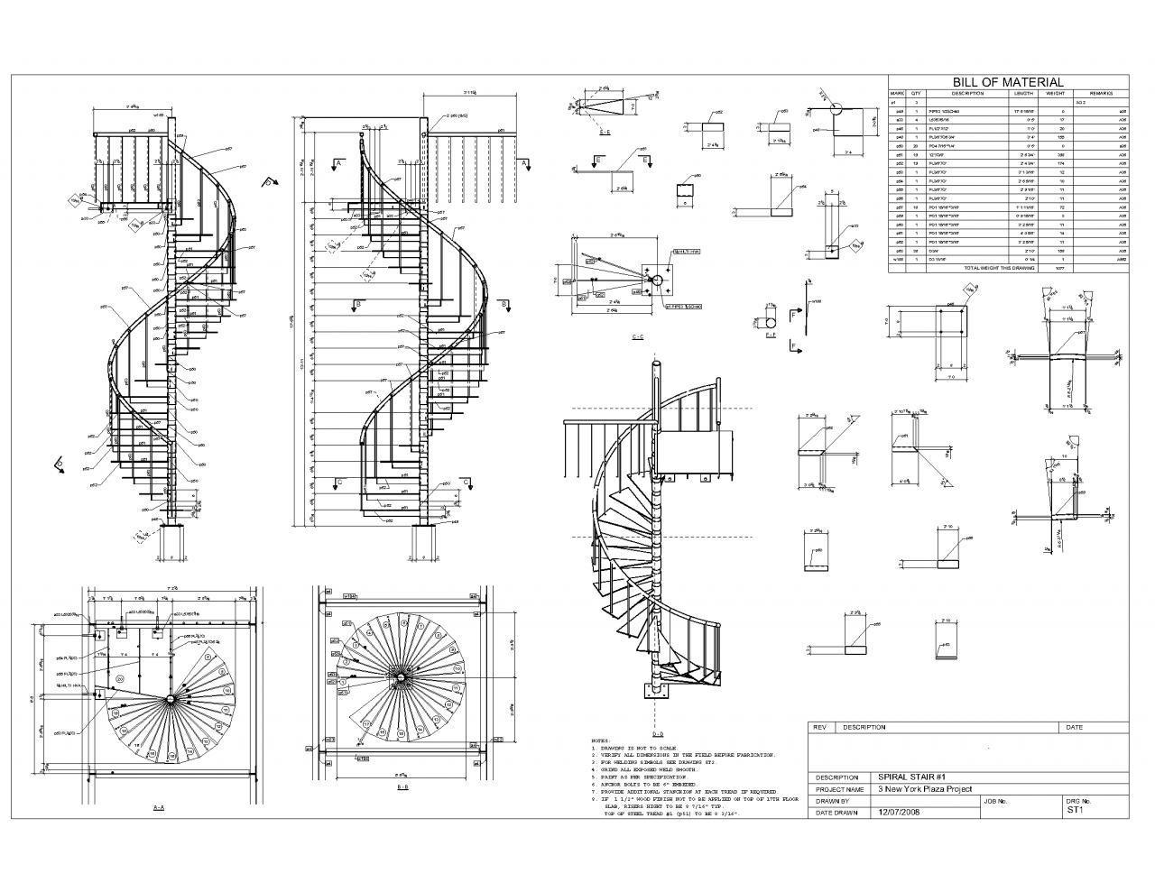 Picture of: Spiral Staircase Plan Drawings Car Tuning House Plans 27147