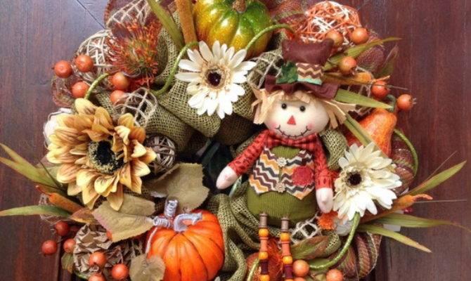 Splendid Fall Wreaths Door Decoration Ideas