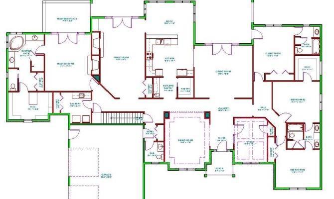 Split Bedroom Floor Plans Ranch