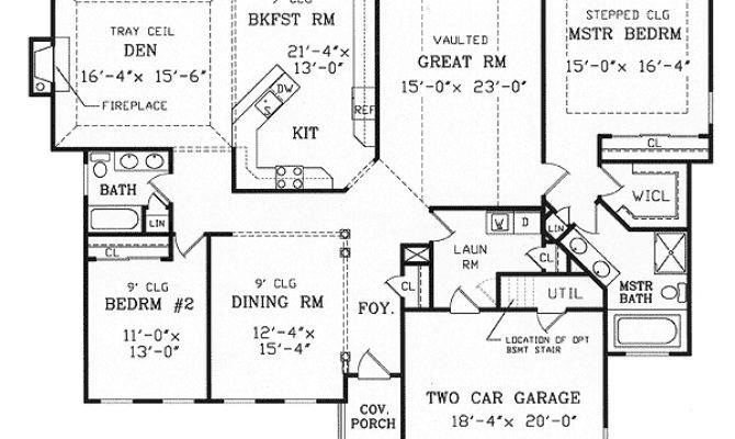 Split Bedroom Ranch Modest Lot Floor
