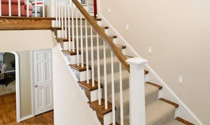 Split Landing Staircase Design Ideas Remodels Photos