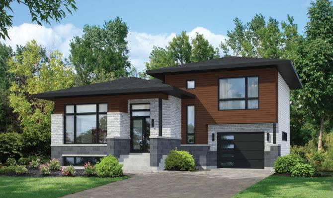 Split Level Contemporary House Plan Floor