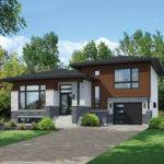 Split Level Contemporary House Plan