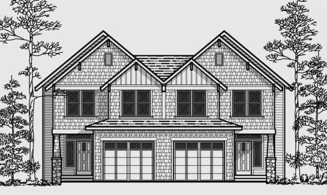 Split Level Duplex House Plans