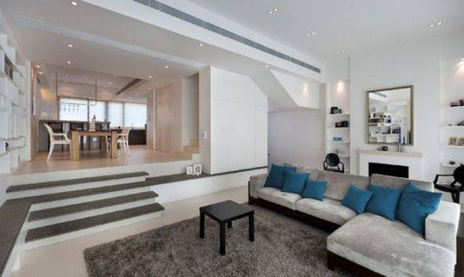 Split Level Home Designs Clear Distinction Between