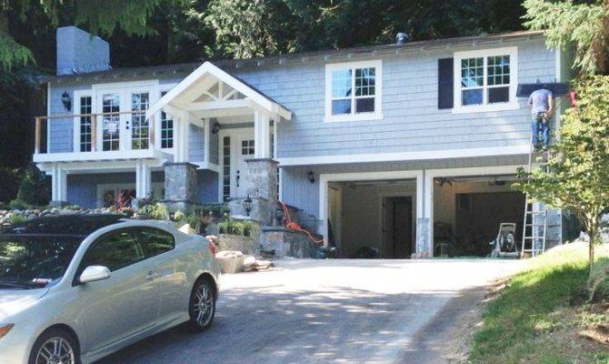 Split Level House Being Transformed Into Craftsman Style Love