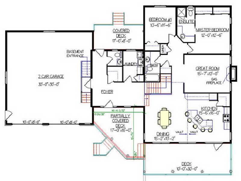 Split Level House Floor Plans House Plans 56427