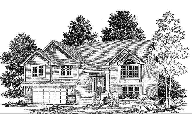 Split Level House Plans Attached Garage