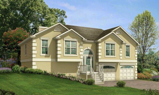 Split Level House Plans Garage