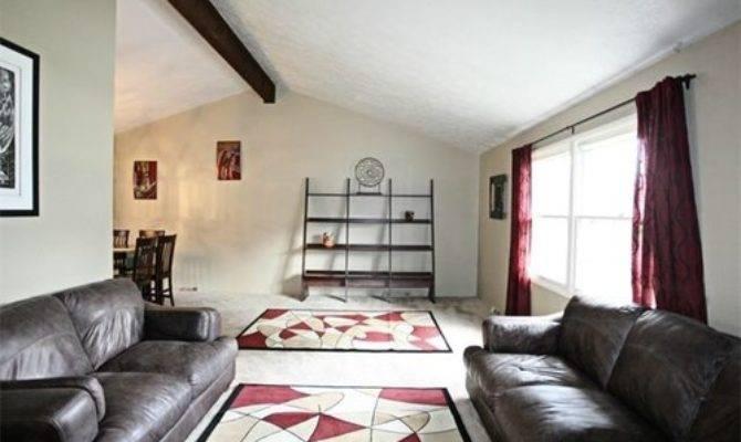 Split Level Living Room Furniture Arrangement