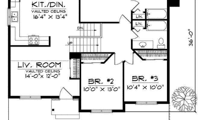 Split Level Vaulted Ceilings Floor
