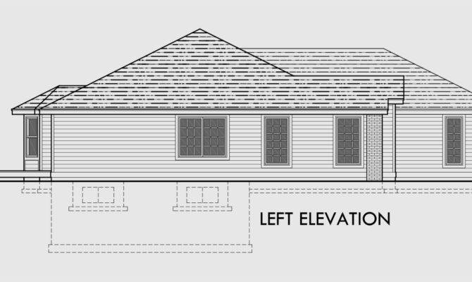 Sprawling Ranch House Plans Basement