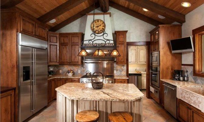 Spring Creek Ranch Home Mansion Kitchen