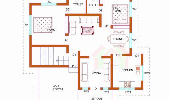 Sqft Bedroom House Plans Kerala