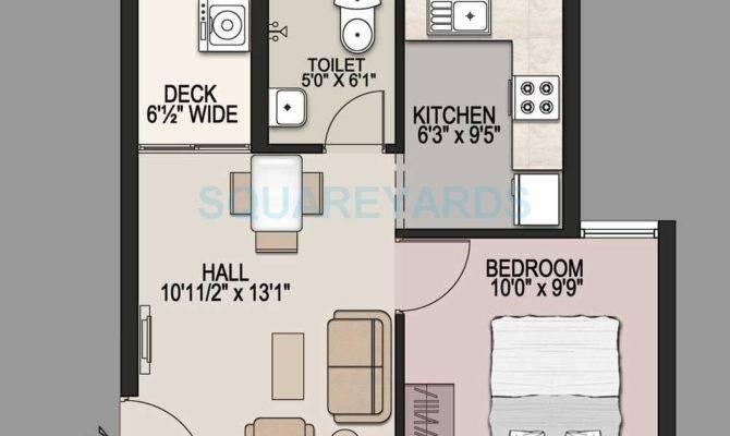Square Feet Apartment Floor Plan House Design Plans