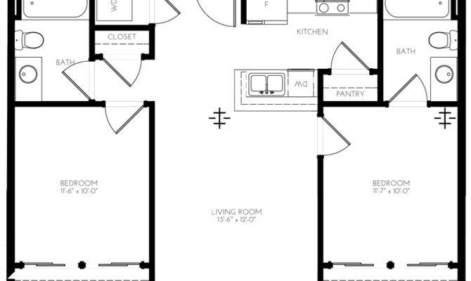 Square Feet Bedroom Apartment Biji