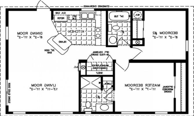 Square Feet Bedroom Apartment Modern House Plan