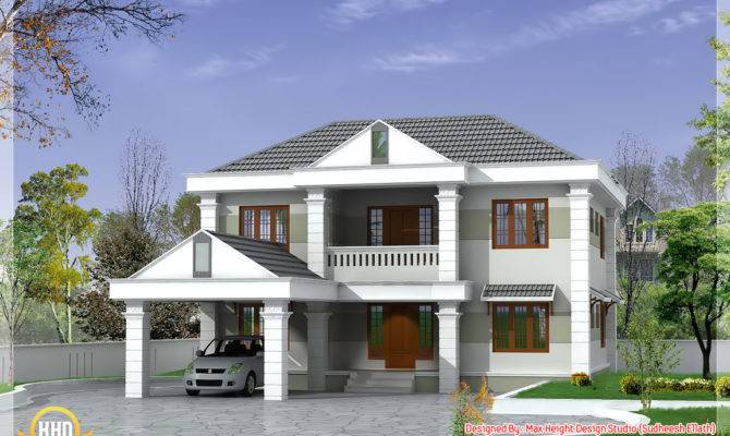 Square Feet Double Storey Kerala Model Home Design