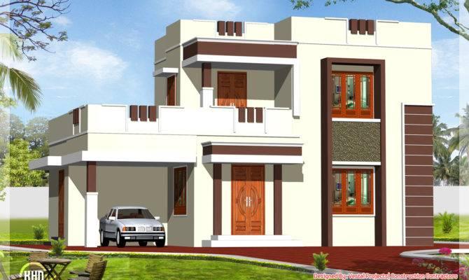 Square Feet Flat Roof Home Design Kerala