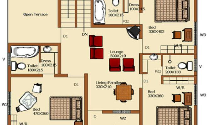 Square Feet House Plans Homes Floor