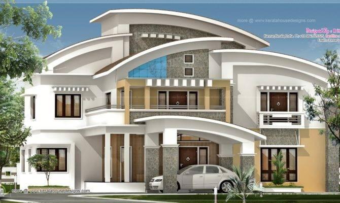 Square Feet Luxury Villa Exterior Kerala Home