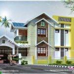 Square Feet Nice House Renderings Kerala Home Design Floor Plans