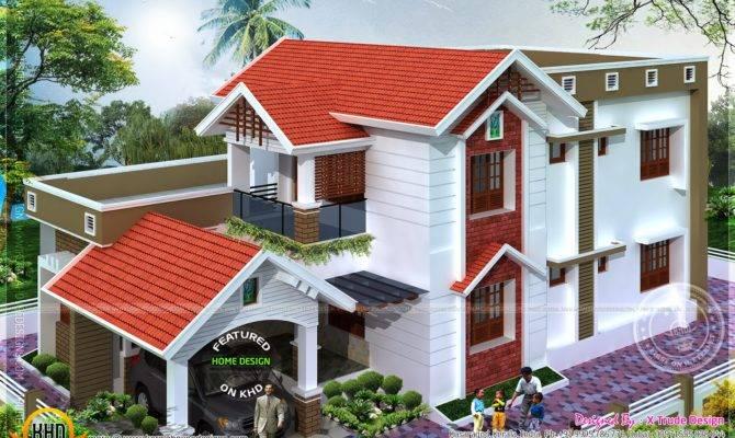 Square Feet Nice House Renderings Kerala Home Design Floor Plans