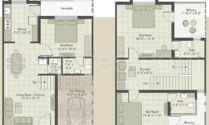 Square Feet Row House Design Home Deco Plans