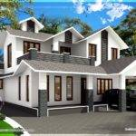Square Feet Sloping Roof Villa Kerala Home Design Floor