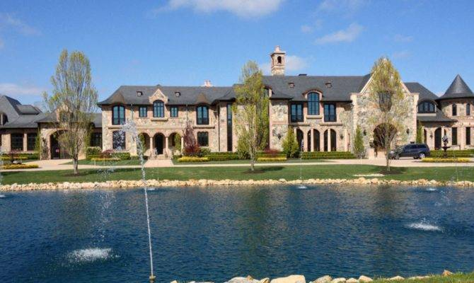 Square Foot French Inspired Stone Brick Mansion