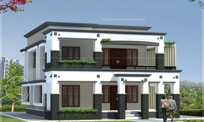 Square Meter Flat Roof House Kerala Home Design Floor Plans