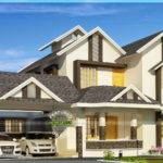 Square Meter Sloping Roof Villa Kerala Home Design Floor