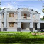 Square Roof Home Elevation Feet Kerala Plans