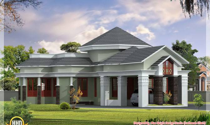 Square Yards One Floor Home Elevation Plan Max Height
