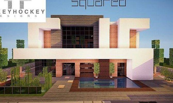 Squared Modern Home Minecraft House Design House Plans 123996