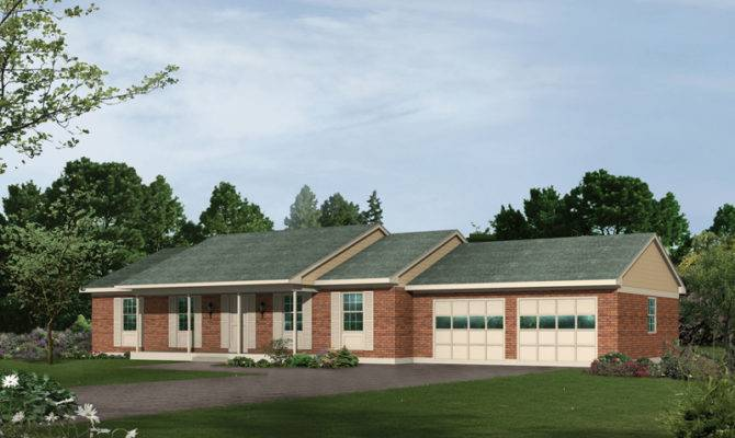 Squire Country Ranch Home Plan House Plans More
